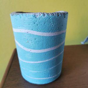 Blue Painted Vase Medium