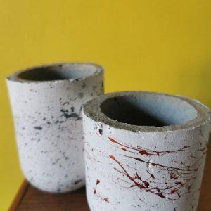 Grey Round Mini Pot